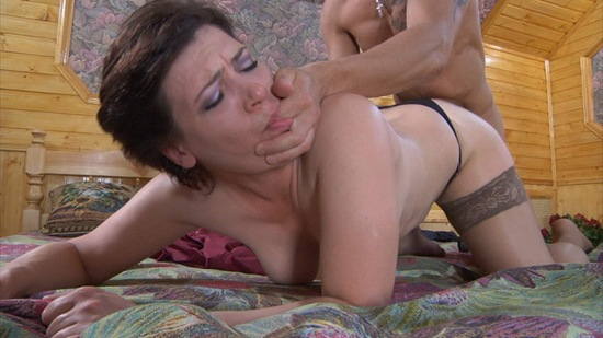 mature woman in stokings doggy shagged by hung dude
